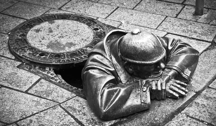Statue d'un mineur, Bratislava, Slovaquie