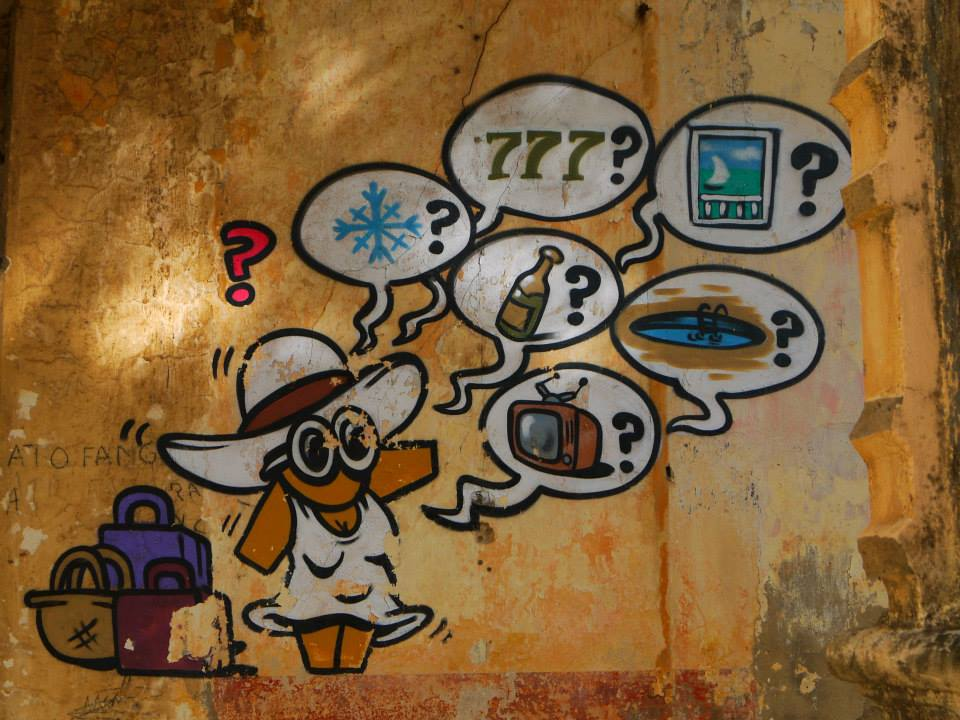 Street Art dans les rues de Diego Suarez, Madagascar. Artiste : JACE