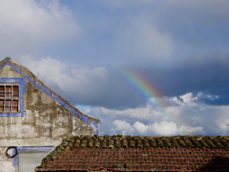 Arc-en-ciel nuageux, Portugal