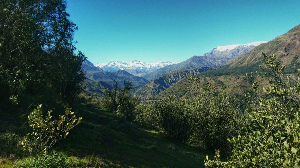 Montagnes du Cajon del Maipo, Chili