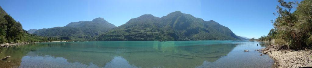 Vue panoramique du lac Tagua Tagua, Chili
