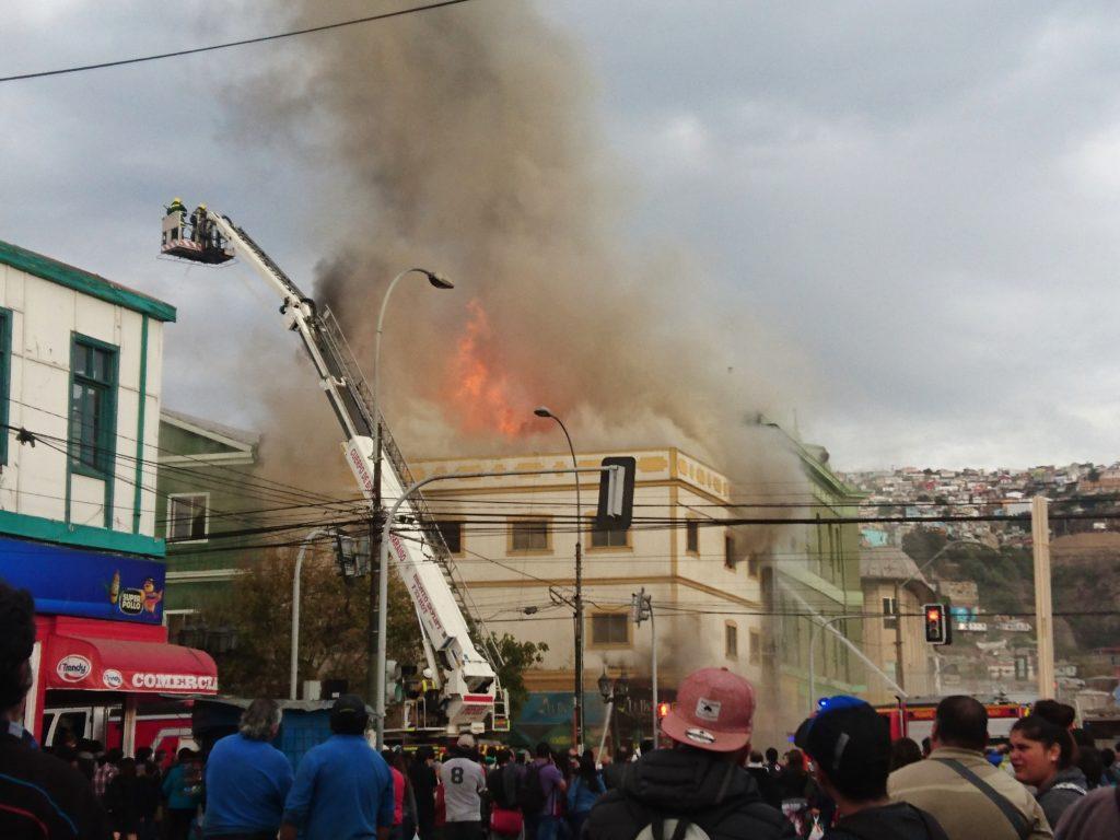 Incendie à Valparaiso, Chili