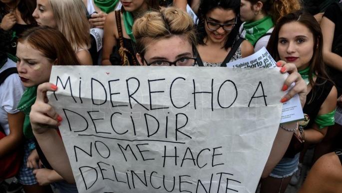 """Marcha aborto legal """"Derecho de decidir"""""""