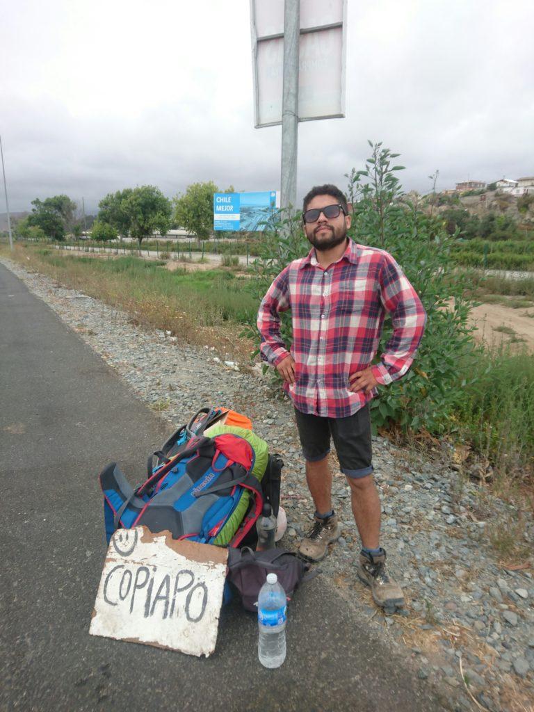Attente stop. Copiapo, Chili