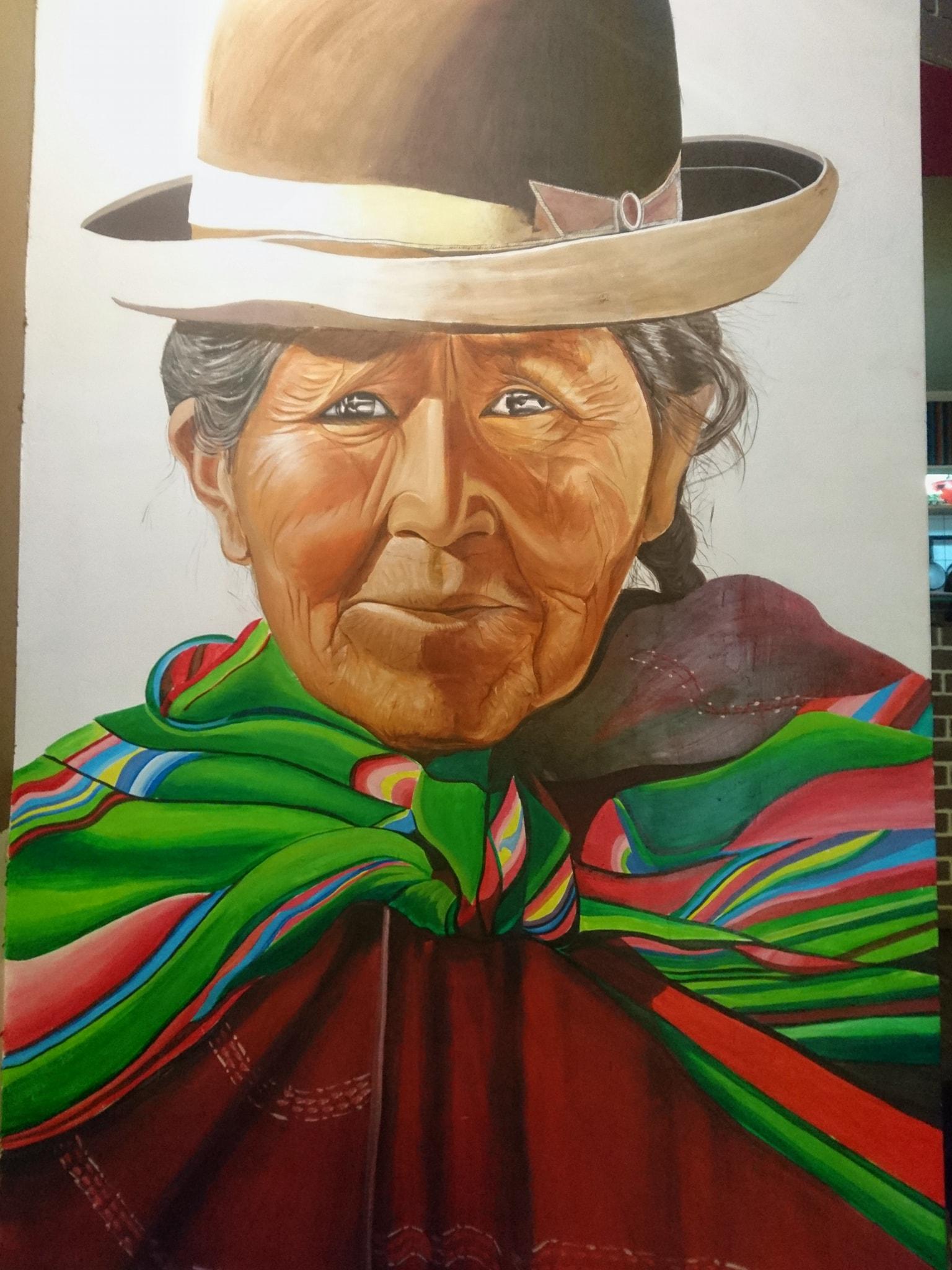 Mural Street Art, La Paz, Bolivie