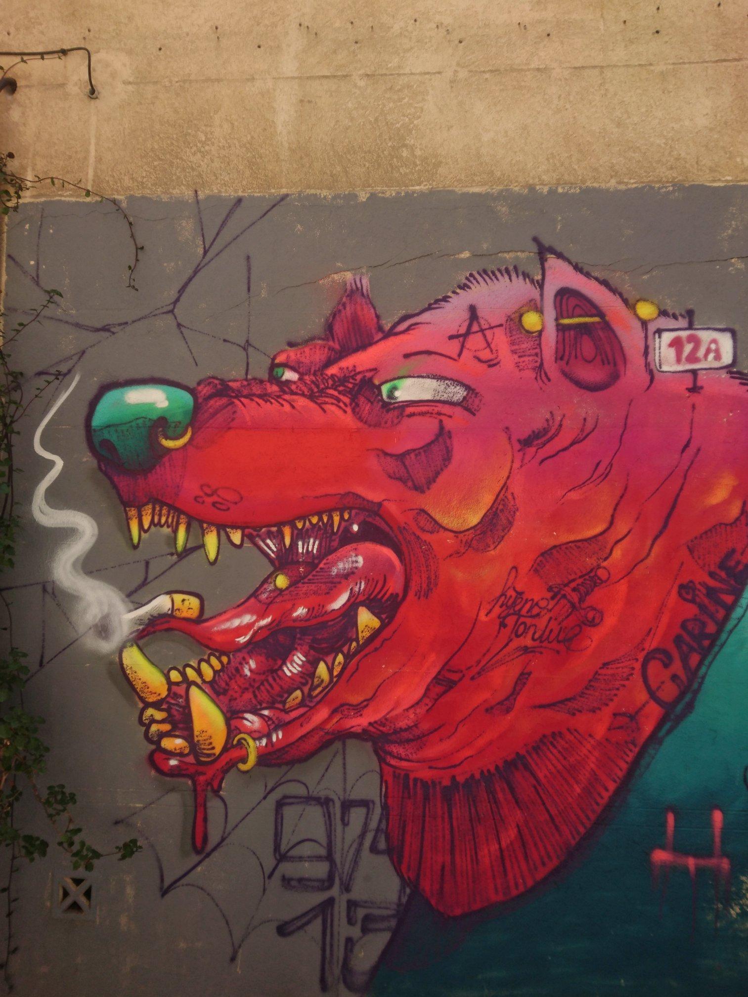 Mural Street Art, Marseille, France