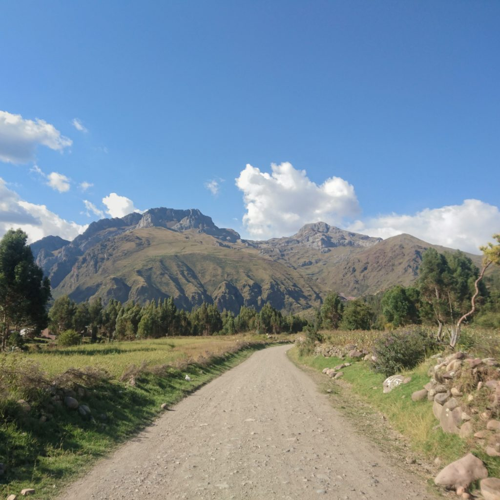 SUr la route pour les ruines de Machu Pitumarca, Perou