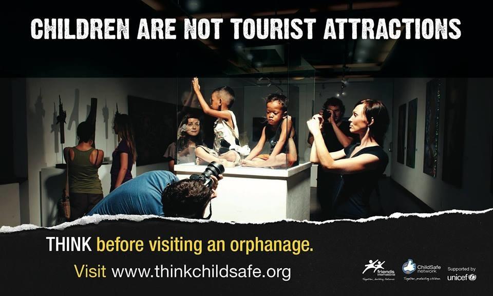 Les enfants ne sont pas une attraction touristique. Campagne Child Safe