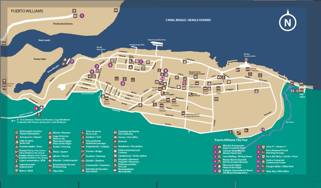 Carte Puerto Williams, Chili