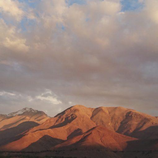 Coucher de soleil valle de l'Elqui Chili